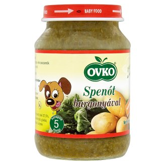 Ovko Gluten- and Dairy-Free Spinach with Potato Food for Babies 5+ Months 190 g