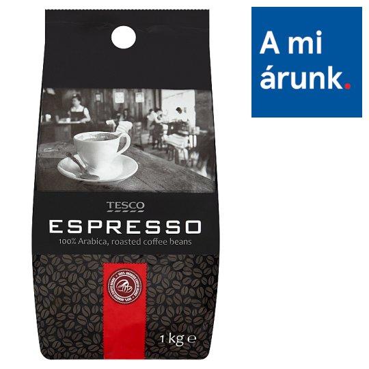 Tesco Espresso pörkölt szemes kávé 1 kg