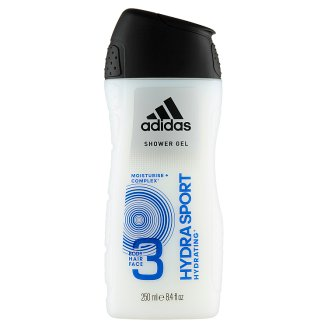 Adidas Hydra Sport 3 az 1-ben tusfürdő Moisturize+ Complex formulával 250 ml