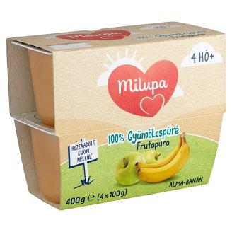 Milupa Frutapura alma-banán gyümölcspüré 4 hó+ 4 db 400 g