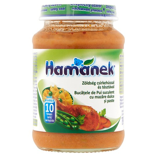 Hamánek Vegetables with Chicken & Pasta Food for Babies 10+ Months 190 g