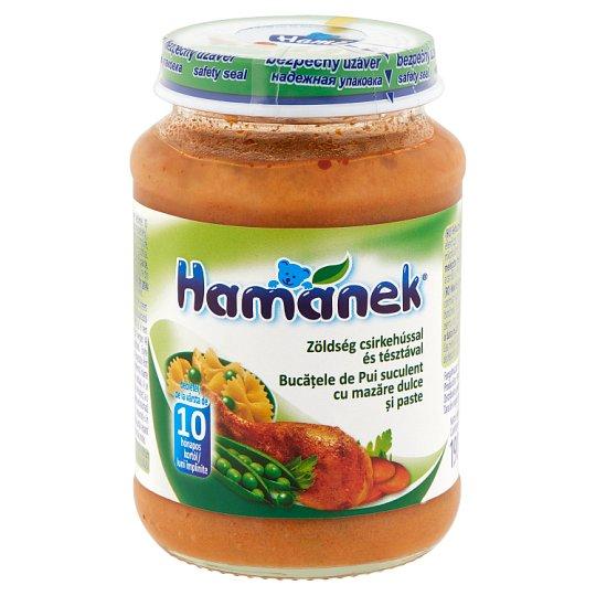Hamánek zöldség csirkehússal és tésztával bébiétel 10 hónapos kortól 190 g