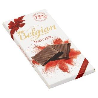 Belgian táblás étcsokoládé 72% 100 g