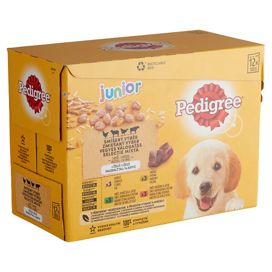 Pedigree Vital Protection Junior Complete Pet Food for Puppies in Aspic 12 x 100 g