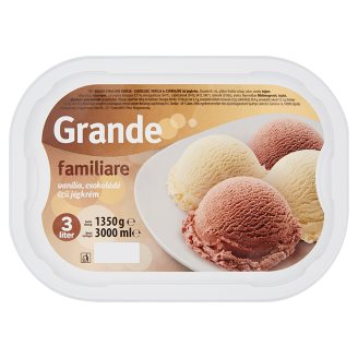 Grande Familiare Vanilla and Chocolate Flavoured Ice Cream 3 l