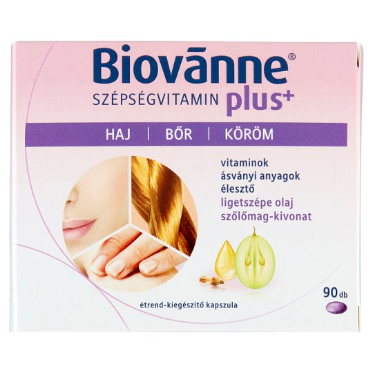 Biovanne Szépségvitamin plus+ Food Supplement Capsule 90 pcs 64,35 g