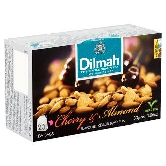 Dilmah Ceylon Cherry & Almond Flavoured Ceylon Black Tea 20 Tea Bags 30 g