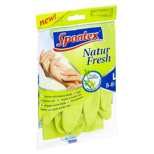 Spontex Natur Fresh gumikesztyű L-es méret