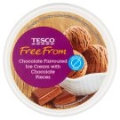 Tesco Free From Lactose-Free Chocolate Flavoured Ice Cream with Chocolate Pieces 500 ml