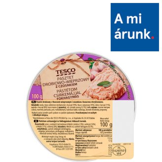 Tesco Pate with Chicken Liver and Garlic 100 g