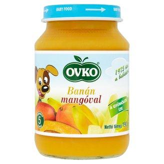 Ovko Gluten- and Dairy-Free Banana with Mango Dessert for Babies 5+ Months 190 g