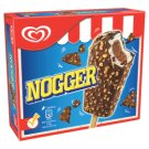 Nogger Vanilla and Cocoa Ice Cream in Cocoa Compound with Peanuts and Biscuit Pieces 6 x 94 ml
