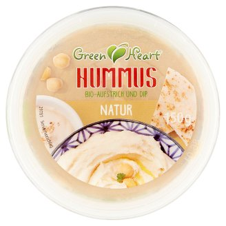 Green Heart BIO natúr hummusz 150 g