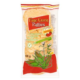 Fine Gluten-Free Corn Patties with Paprika Flavour 100 g