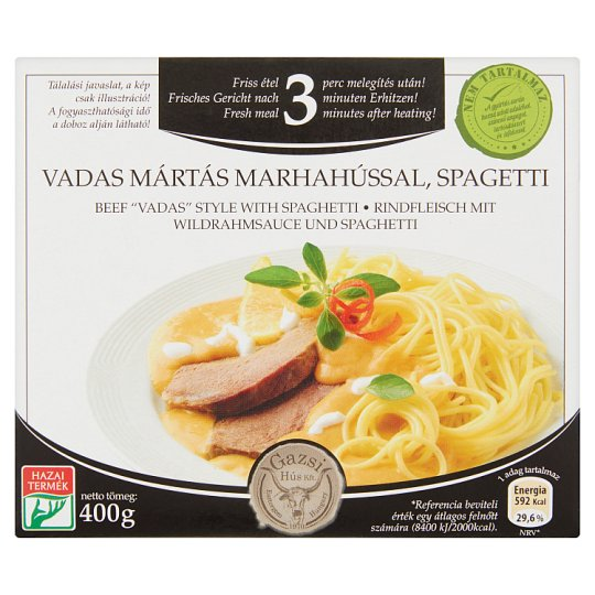 Gazsi spagetti vadas mártás marhahússal 400 g