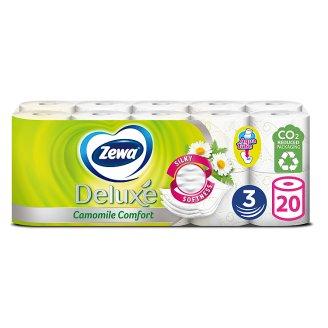 Zewa Deluxe Camomile Comfort Toilet Paper 3 Ply 20 Rolls