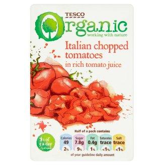 Tesco Organic Italian Chopped Tomatoes in Rich Tomato Juice 390 g