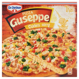 Dr. Oetker Guseppe Quick-Frozen Pizza with Thai Chicken Masala and Curry 375 g