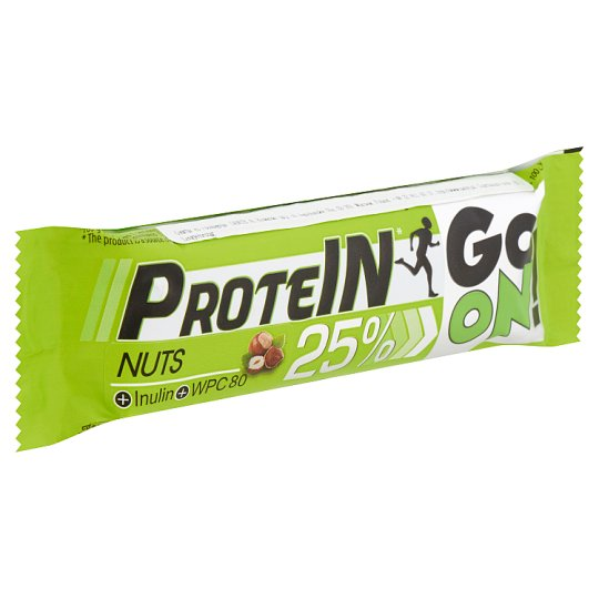 Protein Go On! High-Protein Peanut Bar with Inulin in Milk Chocolate 50 g