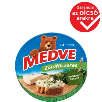 Medve Spreadable Processed Semi-Fat Cheese with Herbs 8 pcs 140 g
