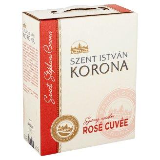 Szent István Korona Dunántúli Rosé Cuvée száraz rosébor 12,5% 3 l