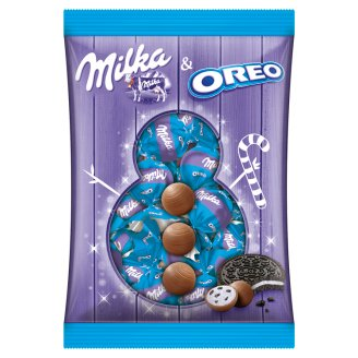 Milka & Oreo Alpine Milk Chocolate with Vanilla Flavoured Milky Cream and Cocoa Biscuit Pieces 86 g