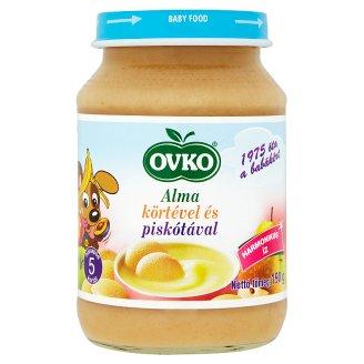 Ovko gluténtartalmú alma körtével és piskótával bébidesszert 5 hónapos kortól 190 g