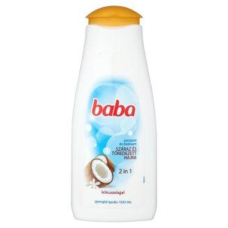Baba családi sampon és balzsam 2in1 száraz és töredezett hajra kókuszolajjal 400 ml
