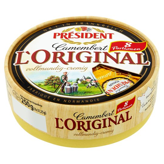 Président Camembert L'Original White Veined Fat Soft Cheese 250 g