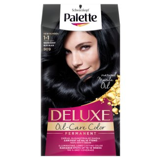 Schwarzkopf Palette Deluxe Oil-Care Color 909 Kékesfekete tartós hajfesték