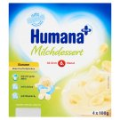 Humana Plus banánízű tejdesszert 6 hónapos kortól 4 x 100 g
