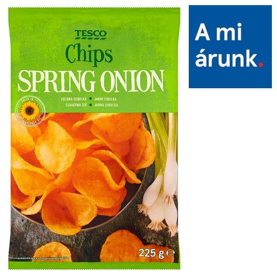 Tesco újhagyma ízű burgonyachips 225 g