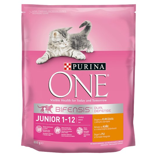 Purina One Junior Complete Pet Food for Kittens Rich in Chicken 800 g