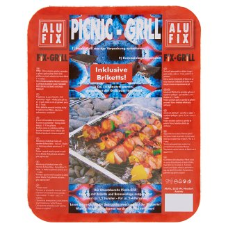 Alufix Fix-Grill Picnic-Grill with Charcoal and Lighter Deposit