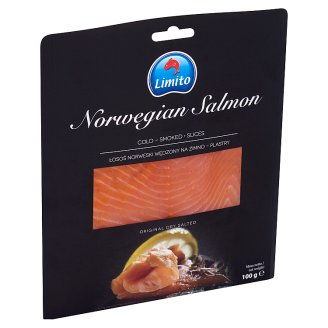 Limito Premium, Cold-Smoked, Norwegian Salmon Slices 100 g