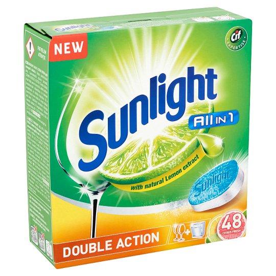 SUNLIGHT All in One Citrus Fresh Dishwashing Tabs 48 pcs