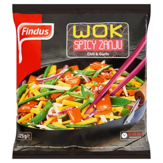 Findus Wok Spicy Zanju Quick-Frozen Mix of Wok Vegetables with Spicy Seasoning 325 g