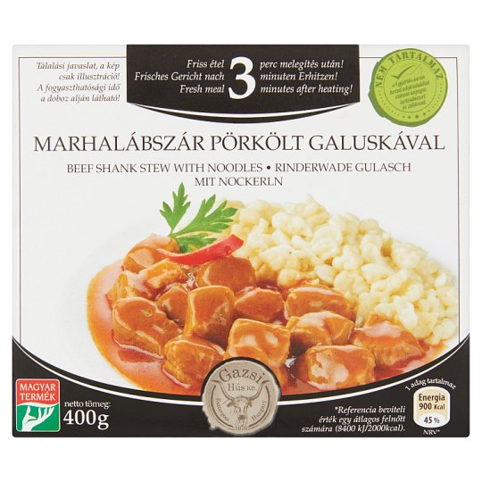 Gazsi Beef Shank Stew with Noodles 400 g