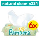 Pampers Natural Clean Baby Wipes 6 Packs 384 wipes