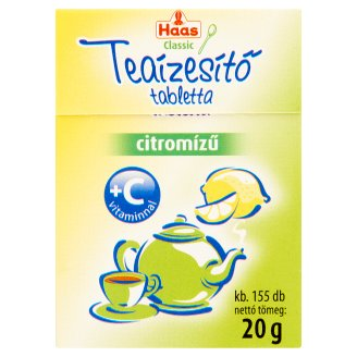 Haas Classic Lemon Flavoured Tea Flavor Tablet with Vitamin C 20 g