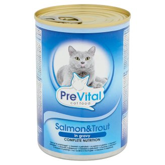 PreVital Complete Food for Adult Cats with Salmon and Trout in Gravy 415 g