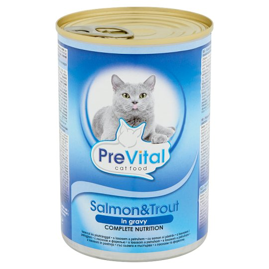 PreVital Complete Food for Adult Cats with Salmon & Trout 415 g