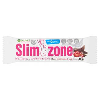 MaxSport Slim Zone Protein Bar with Cocoa Coating with Cranberries, Goji, Sugar and Sweeteners 40 g