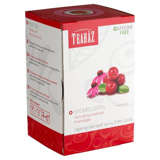 Gárdonyi Teaház Fruit Tea with Cranberry & Echinacea Flavour 20 Tea Bags 40 g