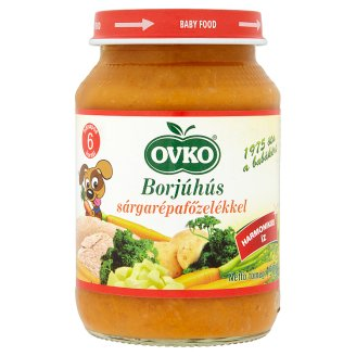 Ovko Gluten- and Dairy-Free Carrots Stew with Veal Baby Food 6+ Months 190 g