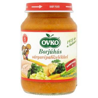 Ovko glutén- és tejszármazékmentes borjúhús sárgarépafőzelékkel bébiétel 6 hónapos kortól 190 g