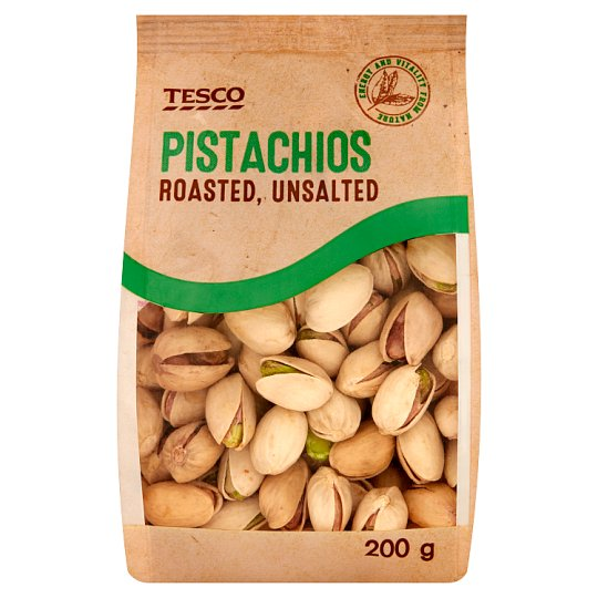 Tesco Roasted, Unsalted Pistachios 200 g
