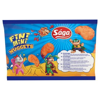 Sága Fini Mini Nuggets Fully-Cooked, Quick-Frozen Chicken Breast Meat 375 g