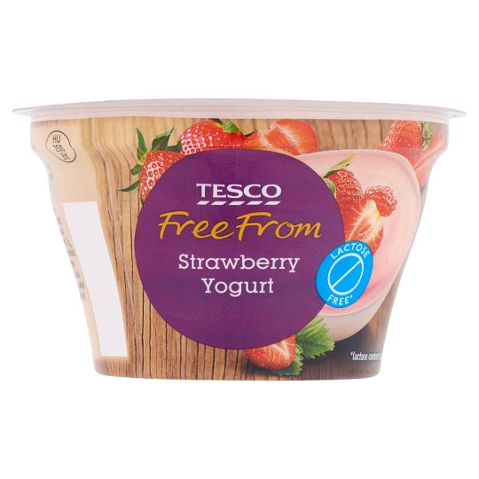 Tesco Free From Lactose-Free Yoghurt with Strawberry and Live Cultures 150 g
