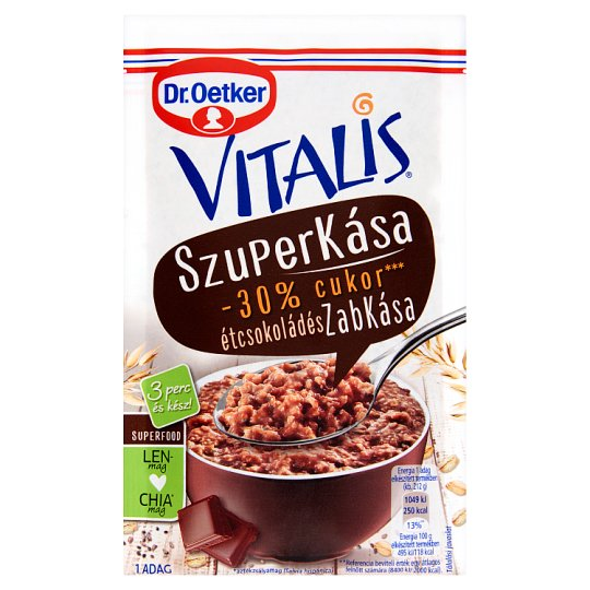 Dr. Oetker Vitalis Szuperkása Porridge Base Powder with Dark Chocolate 62 g